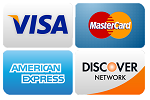 Major Credit Cards and PayPal payments accepted
